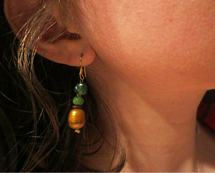 Basic beaded earrings