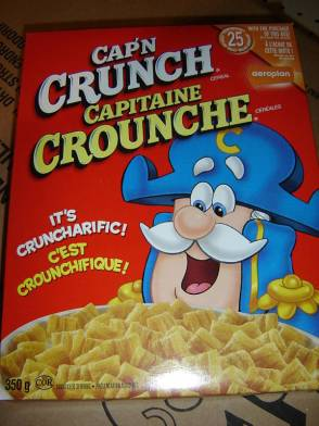 "Cereal box bilingualism, lesson one: ""Crouncharifique"""