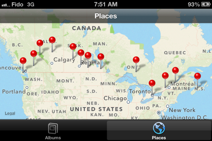 My phone tracked everywhere I took a photo last month. Pretty amazing.