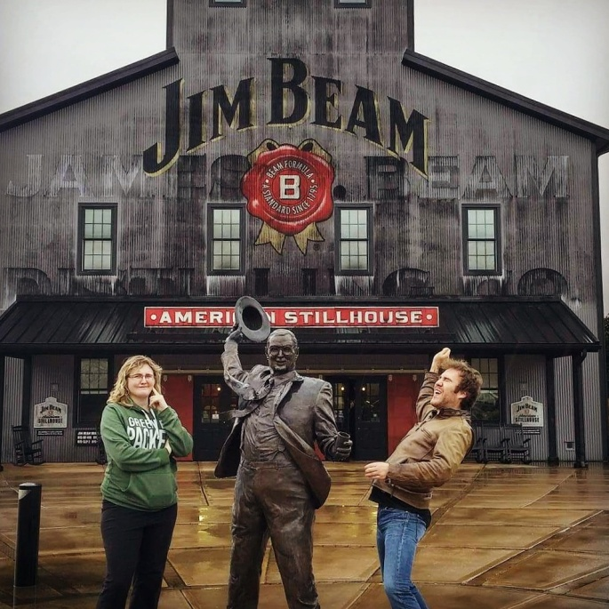 Jim Beam Distillery couple bourbon tour